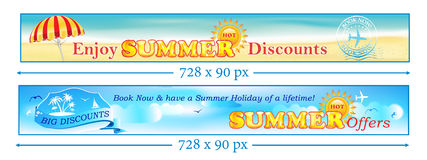 Summer Holiday - Book now and Save Money Stock Photos