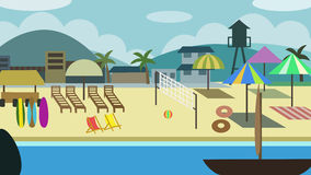 Summer Holiday. Bright sunny beach scene for vacation and holiday Stock Image