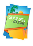 Summer holiday brochure,flyer,magazine cover or poster template design Stock Photos