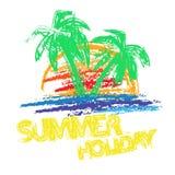 Summer holiday brush royalty free illustration