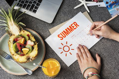 Summer Holiday Calendar Sun Graphic Concept Royalty Free Stock Image