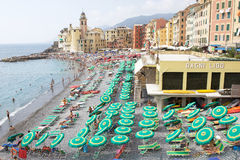 Summer holiday in Camogli Royalty Free Stock Photo