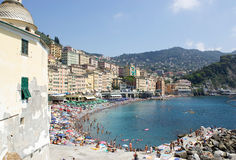 Summer holiday in Camogli Stock Photo