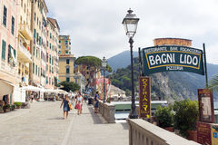 Summer holiday in Camogli Stock Image