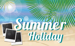 Summer holiday card Royalty Free Stock Images