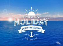 Summer holiday card. Vector blurred background. Royalty Free Stock Image