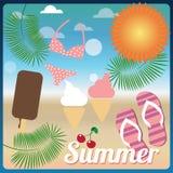 Summer holiday card, vector Stock Photography