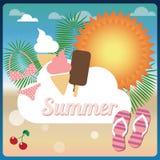 Summer holiday card, vector Royalty Free Stock Photos