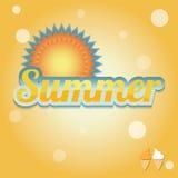 Summer holiday card, vector Royalty Free Stock Photography