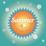 Summer holiday card, vector Stock Photos