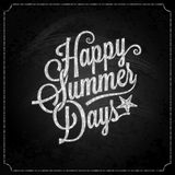 Summer holiday chalk vintage lettering background Stock Photo