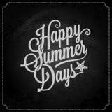 Summer holiday chalk vintage lettering background stock illustration