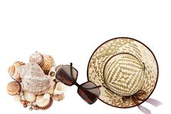 Summer holiday concept, accessories and travel items Royalty Free Stock Photo