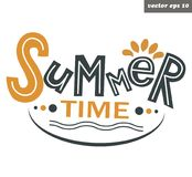 Summer time lettering vector illustration