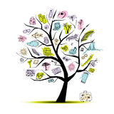 Summer holiday, concept tree for your design Royalty Free Stock Image
