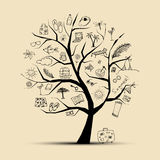 Summer holiday, concept tree for your design Stock Image