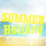 Summer holiday. Creative fresh color color graphic design Stock Photo