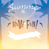 Summer holiday creative poster background Stock Photos