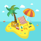 Summer holiday 3d isometric infographic Royalty Free Stock Images