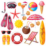 Summer Holiday Decorative Icons Set Royalty Free Stock Image