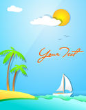 Summer holiday  design Royalty Free Stock Image