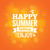 Summer holiday design background Royalty Free Stock Images