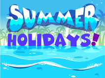 A summer holiday design Stock Images