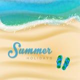 Summer Holiday Design. Summer holiday Beach Design in Vector Stock Photos