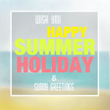 Summer Holiday Design Stock Photos