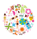 Summer holiday design set Royalty Free Stock Photos