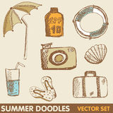Summer holiday doodle collection Royalty Free Stock Photography