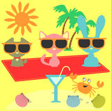 Summer holiday elements Stock Images