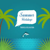 Summer holiday flat icons set. Royalty Free Stock Photography