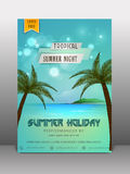 Summer holiday flyer, banner or template. Royalty Free Stock Images