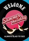 Summer holiday flyer Royalty Free Stock Image