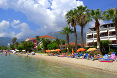 Summer holiday Greek island beach Royalty Free Stock Images