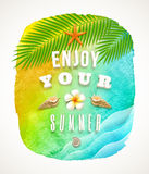 Summer holiday greeting Royalty Free Stock Images