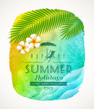 Summer holiday greeting Stock Photo