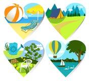 Summer holiday hearts Stock Image