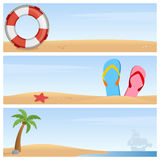 Summer Holiday Horizontal Banners Stock Image
