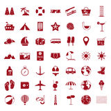 Summer holiday icon set Royalty Free Stock Photo