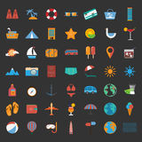 Summer holiday icon set Stock Images