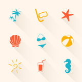 Summer Holiday Icons Royalty Free Stock Images