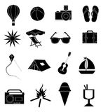 Summer holiday icons set Royalty Free Stock Photos