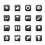 Summer and Holiday Icons Royalty Free Stock Images
