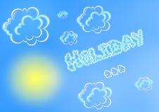 Summer holiday illustration Royalty Free Stock Photo