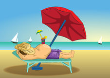 Summer holiday illustration Stock Images