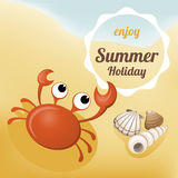 Summer Holiday illustration Royalty Free Stock Images