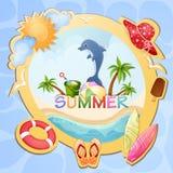 Summer holiday illustration Royalty Free Stock Image