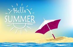 Summer holiday illustration Stock Photography